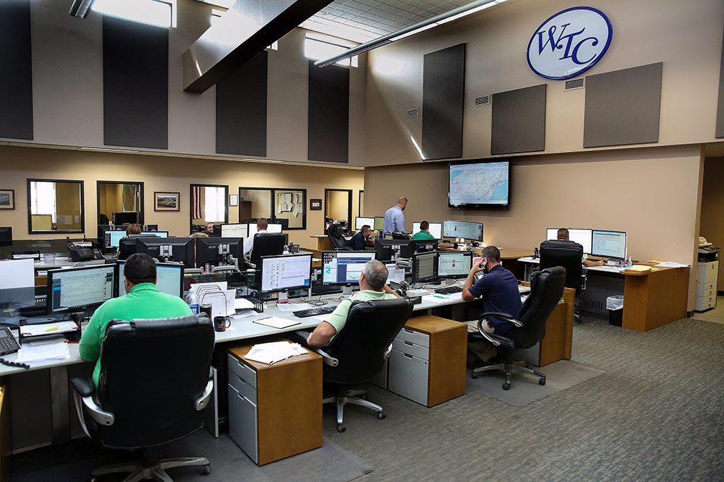 Operations center at Watsontown Trucking Company